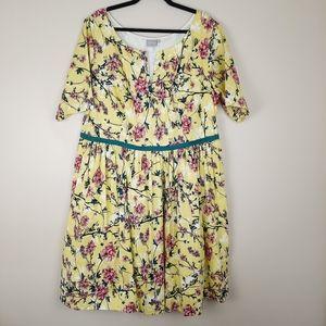 eShakti flowered springtime dress